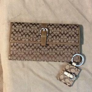Coach wallet & key ring set